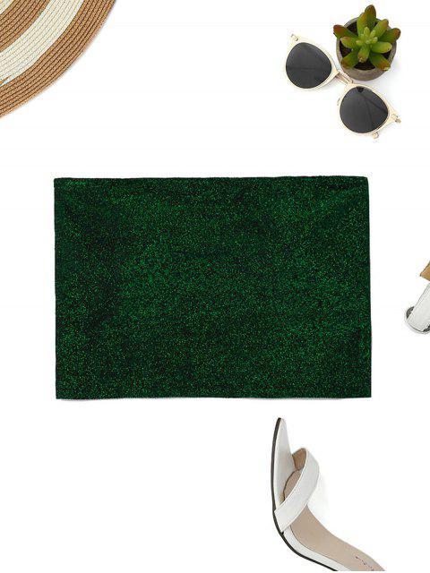 trendy Glittered Tube Top - GREEN S Mobile