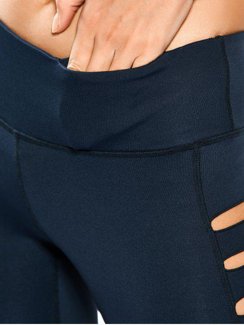 Leggings de yoga étirés - Bleu Cadette XL Mobile