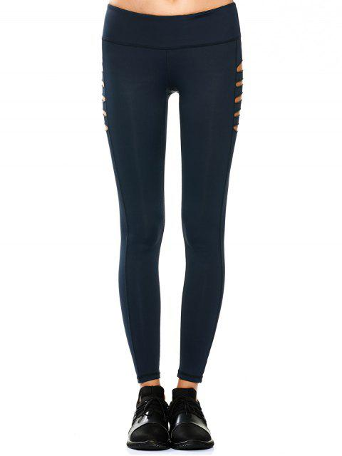 new Cut Out Tight Yoga Leggings - CADETBLUE S Mobile