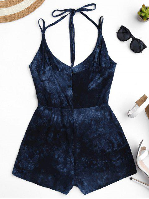 sale Strappy Dipdye Print Romper - PURPLISH BLUE S Mobile