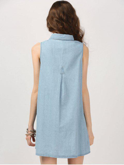 Robe Chambray sans manches - Denim Bleu XL Mobile