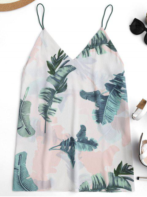 new Mini Tropical Print Casual Dress - OFF-WHITE ONE SIZE Mobile