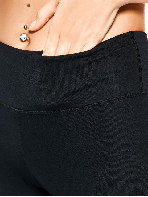hot Mesh Insert Skinny Yoga Leggings - BLACK XL Mobile