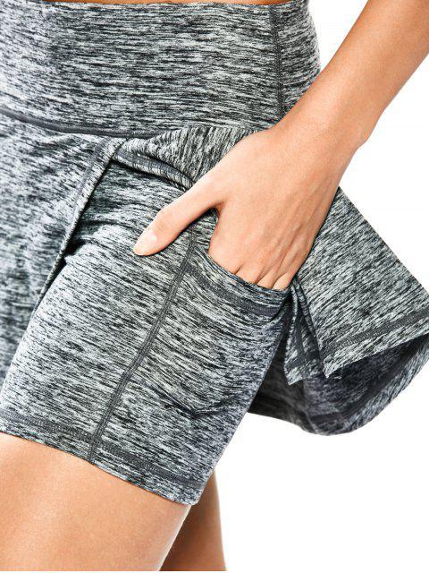 Shorts de sport jupette à tie dye - Gris Clair XL Mobile