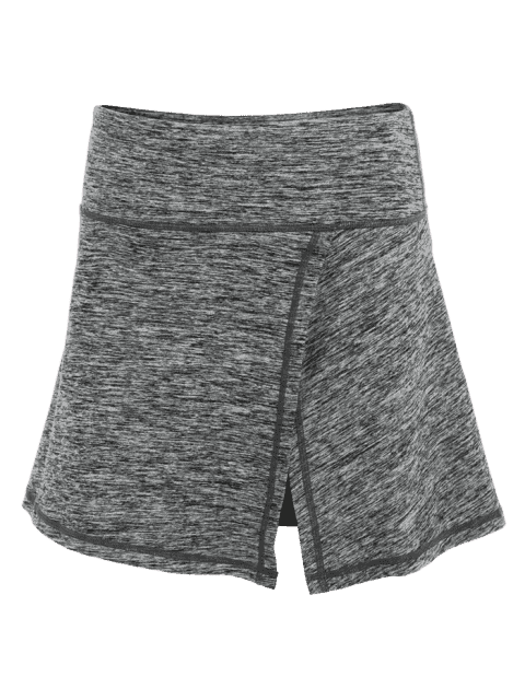 shops Skirted Space Dyed Sporty Shorts - LIGHT GRAY L Mobile