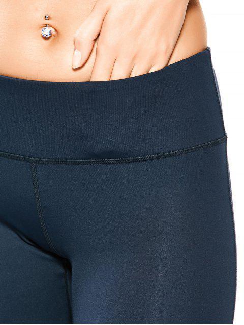 Leggings de yoga élastique avec embllissement de mailles - Bleu Cadette XL Mobile