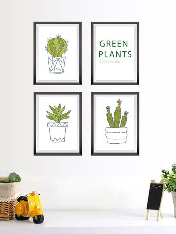 Cactus Plant Photo Frame Stickers en vinyle