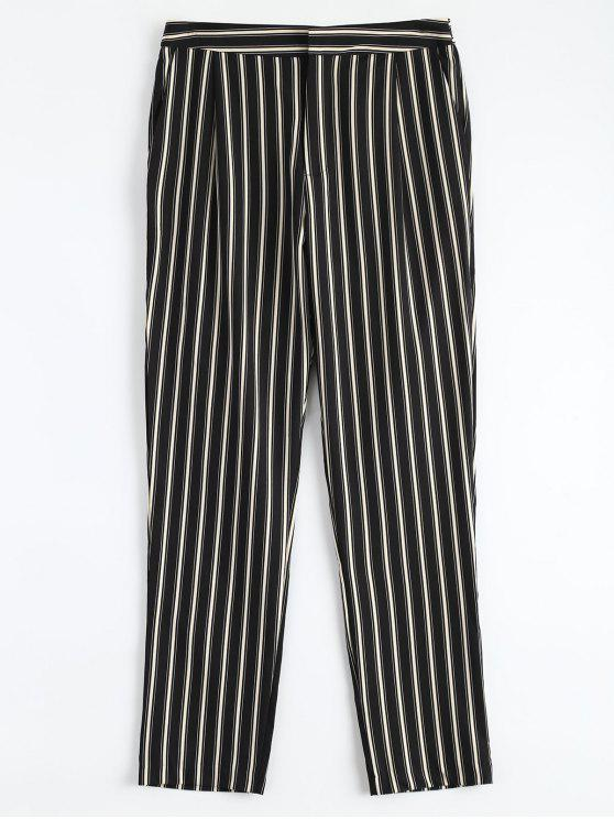 fashion Cigarette Striped Suit Pants - STRIPE S