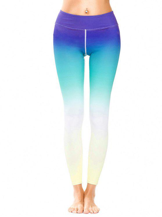 women Butt Lift Tights Sweat Pants - MULTICOLOR S