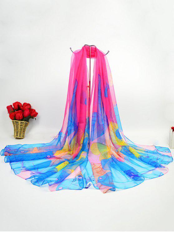 Sciarpa di seta ghiaccio inchiostro digitale Gossamer Butterfly - Tutti Frutti