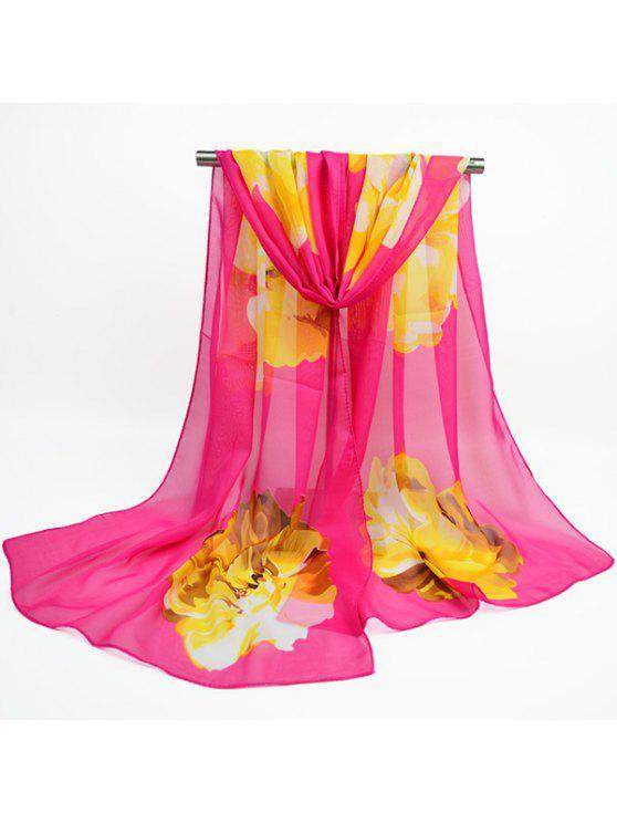 وشاح من قماش الشيفون بطبعة أزهار - نوع من انواع الحلويات يدعى توتي فروتي