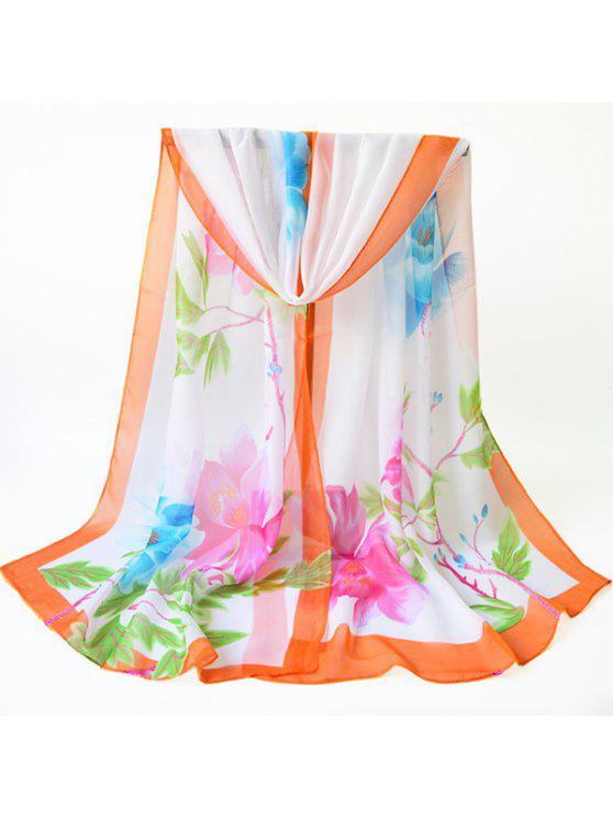 Écharpe en chandelier en émail rétro Blossom - Orange Jaune