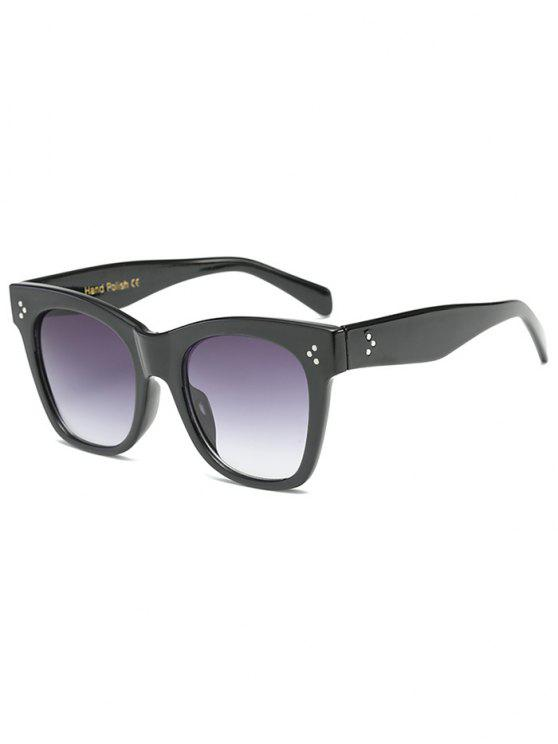 online Anti UV Ombre Wide Wayfarer Sunglasses - BLACK