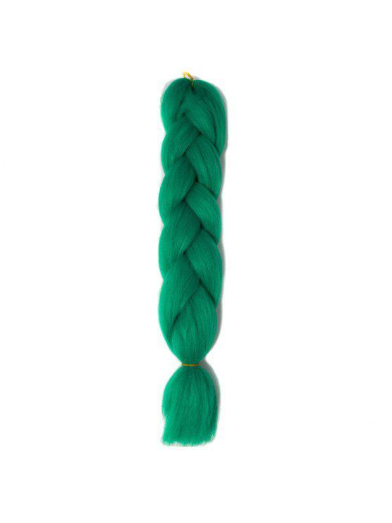 أشعث كانيكالون تجديل الشعر قطعة - الأخضر العميق