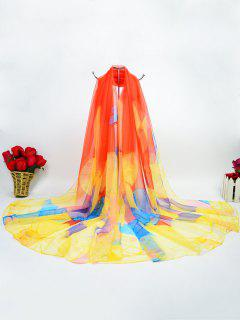 Butterfly Gossamer Digital Inkjet Ice Silk Scarf - Orange Yellow