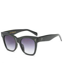 Anti UV Ombre Wide Wayfarer Sunglasses - Black