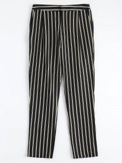 Cigarette Striped Suit Pants - Stripe M