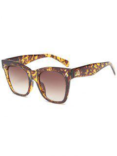 Ombre Protección UV Gafas De Sol Wide Wayfarer - Leopardo + Marrón