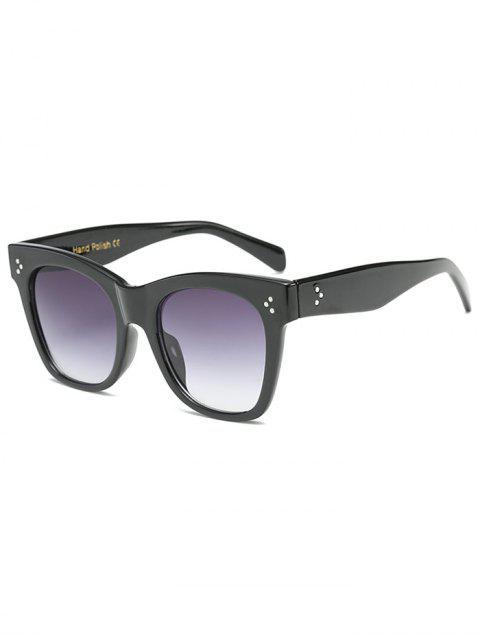 online Anti UV Ombre Wide Wayfarer Sunglasses - BLACK  Mobile