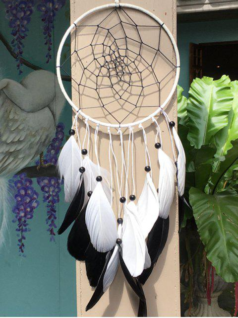 unique Dreamcatcher Circle Feather Beads Hang Home Decoration - MULTICOLOR  Mobile