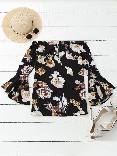 Floral Off Shoulder Blouse à manches courtes - Multicolore XL Mobile