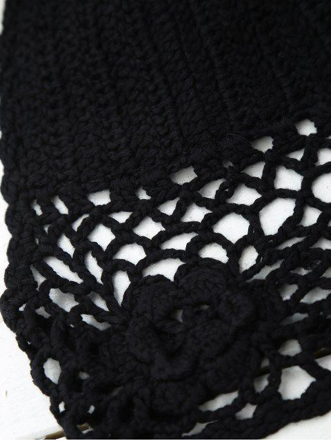 Crochet sans doublure Backless Crop Top - Noir TAILLE MOYENNE Mobile