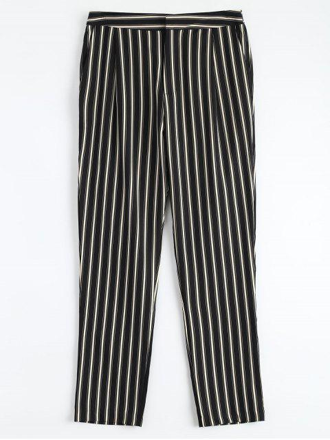 fashion Cigarette Striped Suit Pants - STRIPE S Mobile