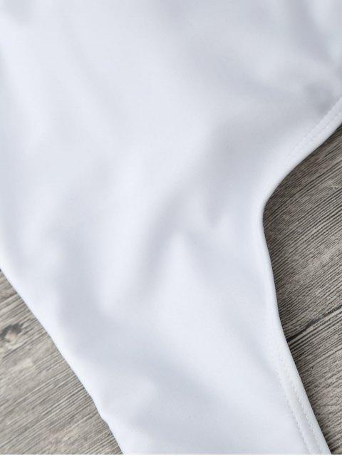 Maillot 1 Pièce Monokini Coupé Asymétrique - Blanc L Mobile