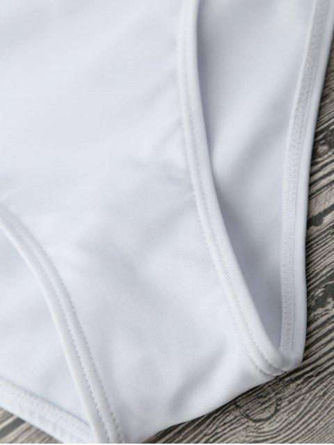 Monokini Maillots de bain à une pièce découpé asymétrique - Blanc M Mobile