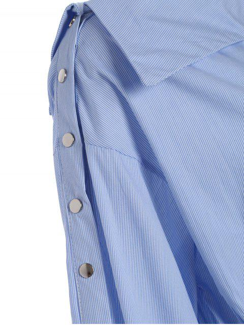 Bottes latérales, ceinture, robe décontractée - Rayure S Mobile