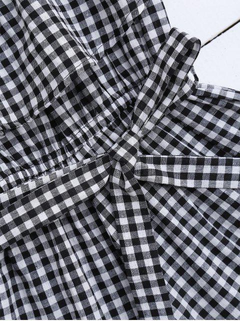 Robe à manches courtes à bandoulière avec ceinture - Noir M Mobile