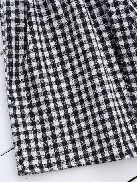 Robe à manches courtes à bandoulière avec ceinture - Noir L Mobile