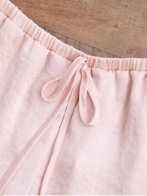 shorts de satin à cordon de serrage  en forme de tulipe - Rose Abricot L Mobile