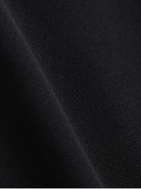 online Sleeveless Plunge Mesh Backless Dress - BLACK XL Mobile