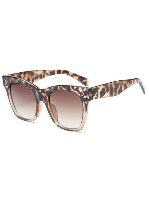 new Anti UV Ombre Wide Wayfarer Sunglasses - LEOPARD  Mobile