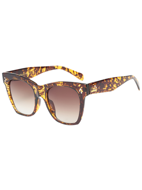 hot Anti UV Ombre Wide Wayfarer Sunglasses - LEOPARD+BROWN  Mobile