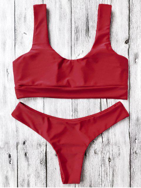 Bikinis paddé col U - Rouge S Mobile