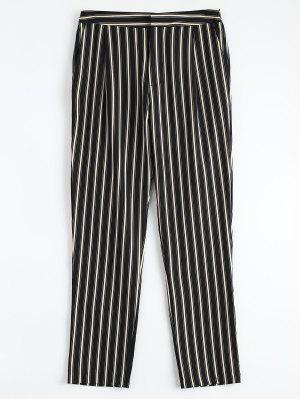 Cigarette Striped Suit Pants - Stripe S