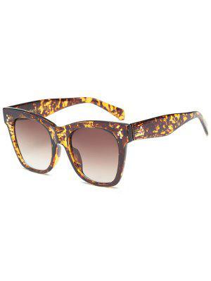 Anti UV Ombre Wide Wayfarer Sunglasses - Leopard+brown