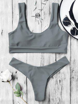 Bikinis Paddé Col U - Gris M