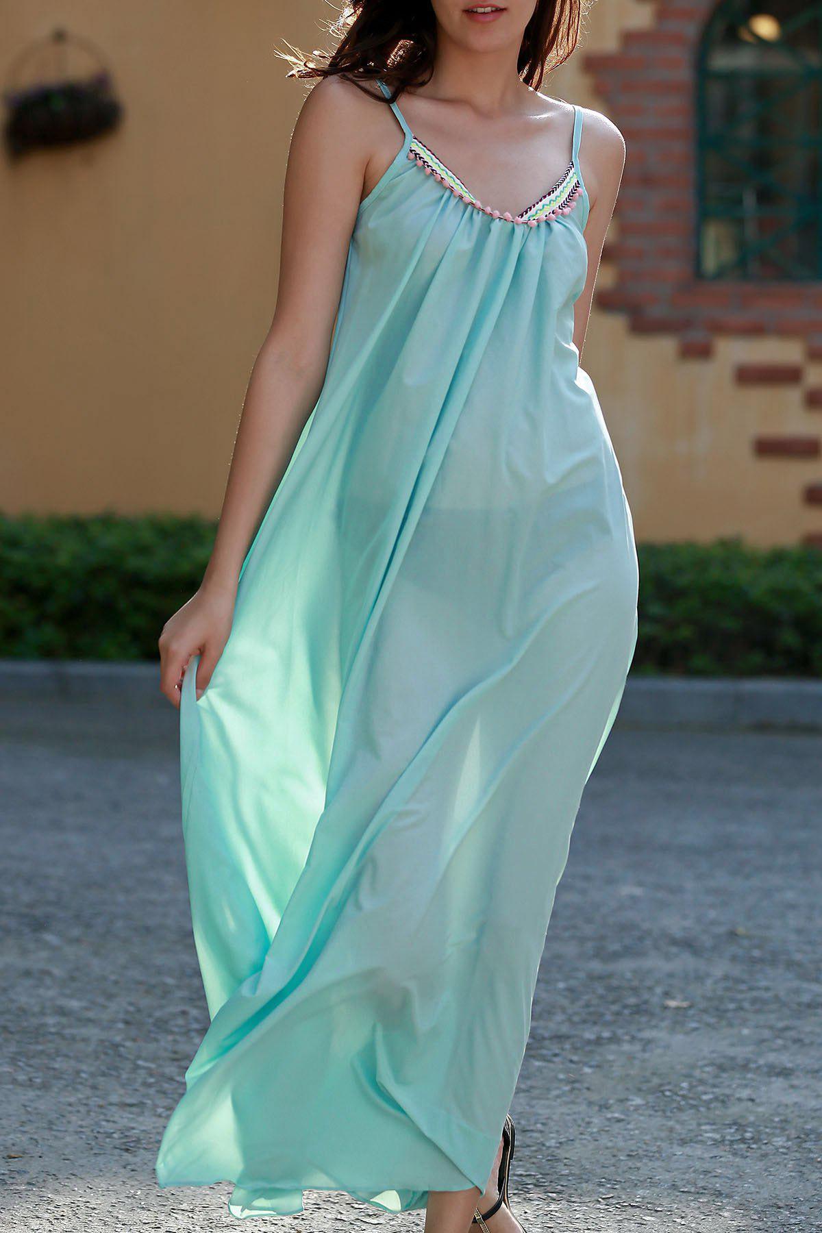 Carter Splice Cami Backless Maxi Dress