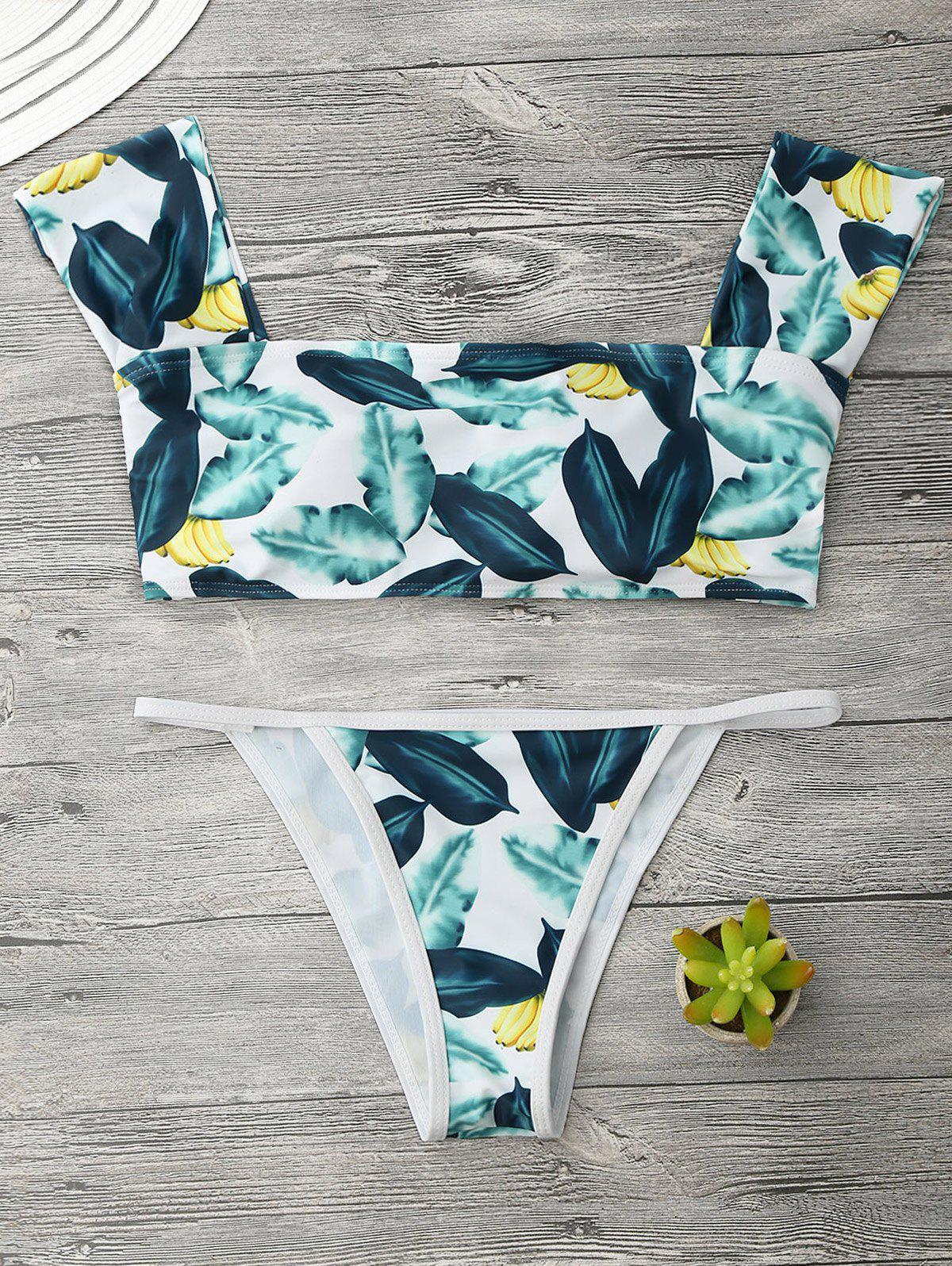 Ensemble de bikini à cordes en forme de banane