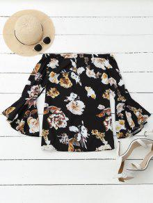 Floral Off Shoulder Bell Sleeve Blouse