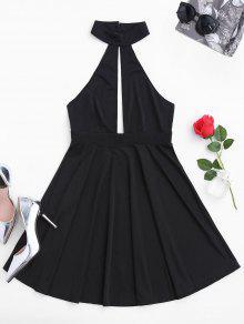Vestido Sin Mangas Con Espalda - Negro Xl