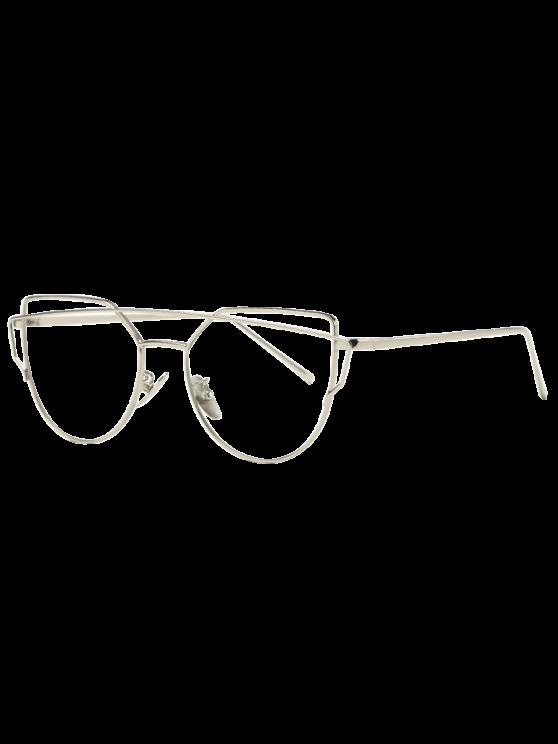 Occhiali da sole in metallo Silver Frame - Trasparente bianco