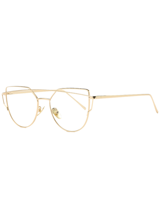 online Metal Bar Golden Frame Pilot Sunglasses - TRANSPARENT