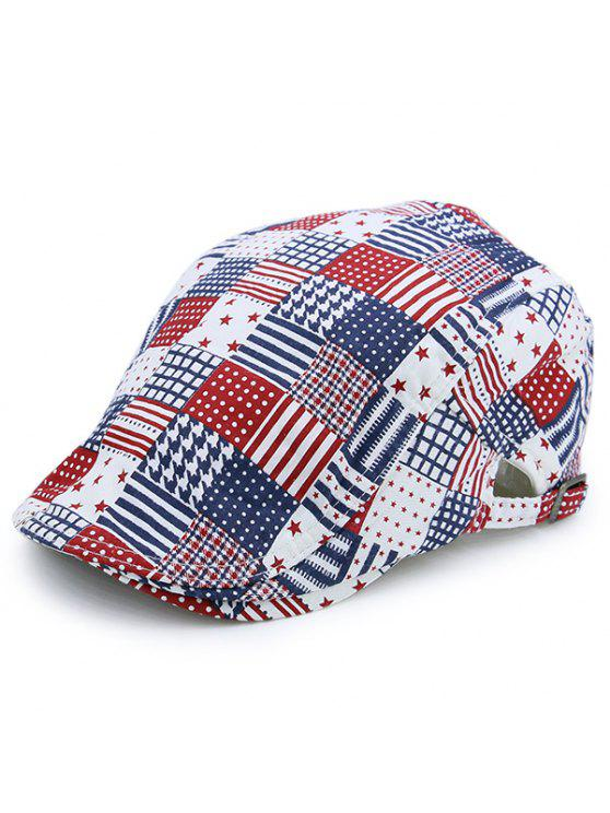Elemento Americano Plaid Estrelas Striped Newsboy Hat - Verificado