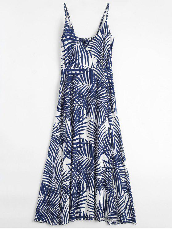 outfit Palm Tree Print Slip Maxi Holiday Dress - COLORMIX M