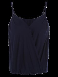 Débardeur Porte-feuille Décolleté En Coton Avec Bretelles - Bleu Violet S