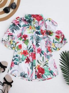 Chemise Florale à Manches Courtes - Floral S